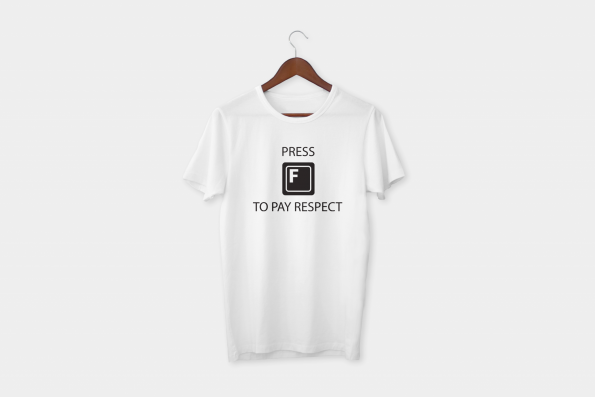 F To Pay Respects Half Sleeve T-Shirt 1