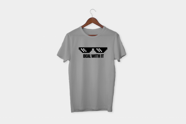 Deal with it t-shirt grey