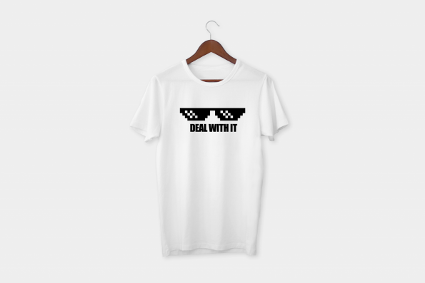 Deal with it t-shirt white