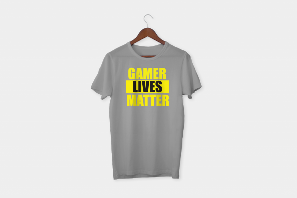 Gamer lives matter t-shirt grey