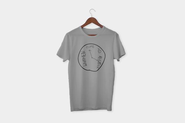 Time to respeck whamen t-shirt grey