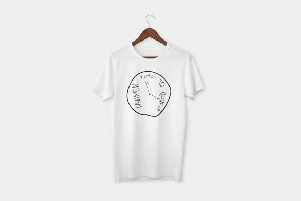 Time to respeck whamen t-shirt white