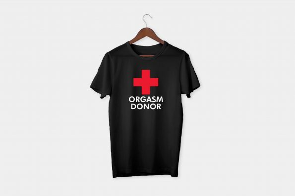 red cross tshirt black