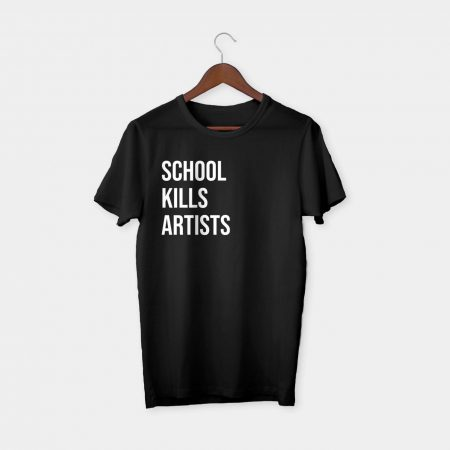 school kills artists t-shirt black