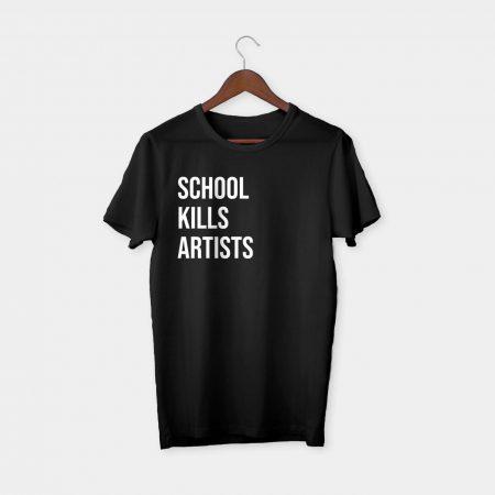 school kills artists t-shirt black
