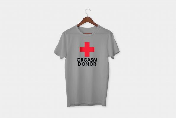 red cross tshirt grey