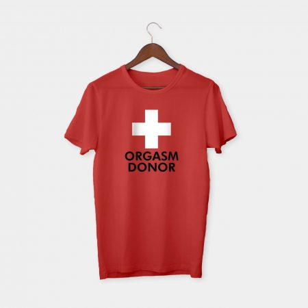 red cross tshirt red