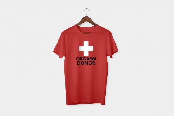 red cross tshirt red