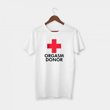 red cross tshirt white