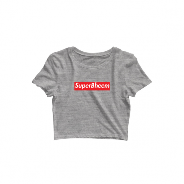 superbheem grey croptop