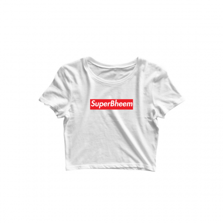 superbheem white croptop