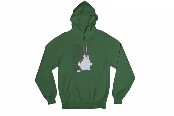 Big Chungus Green Gender Neutral Hoodie