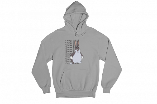 Big Chungus Grey Gender Neutral Hoodie