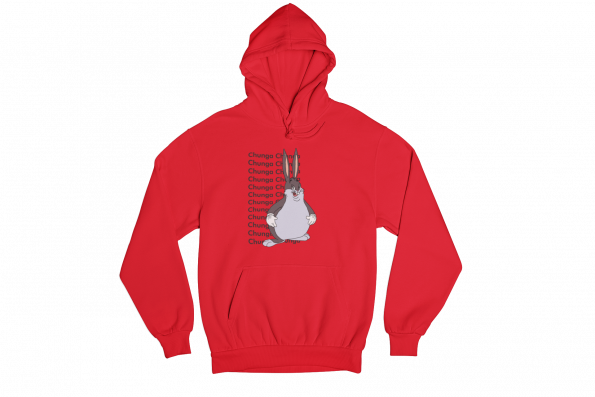 Big Chungus Red Gender Neutral Hoodie