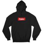 Fake Black Gender Neutral Hoodie