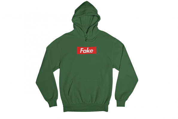 Fake Green Gender Neutral Hoodie