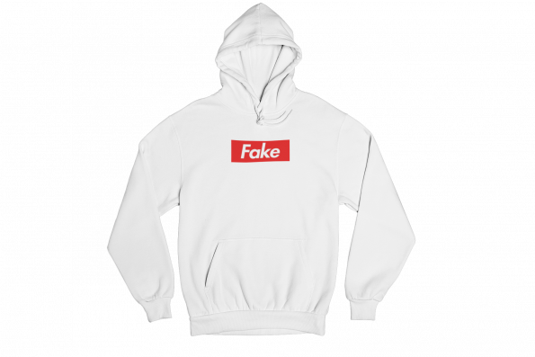 Fake White Gender Neutral Hoodie
