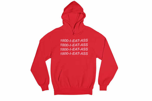 I Eat Ass Red Gender Neutral Hoodie