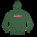 SuperBheem Green Gender Neutral Hoodie