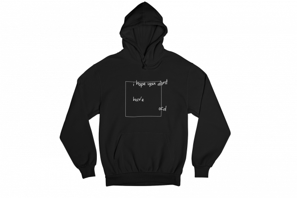 OCD Black Gender Neutral Hoodie