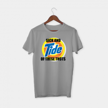 Sick and tide grey tshirt