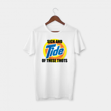 Sick and tide white tshirt