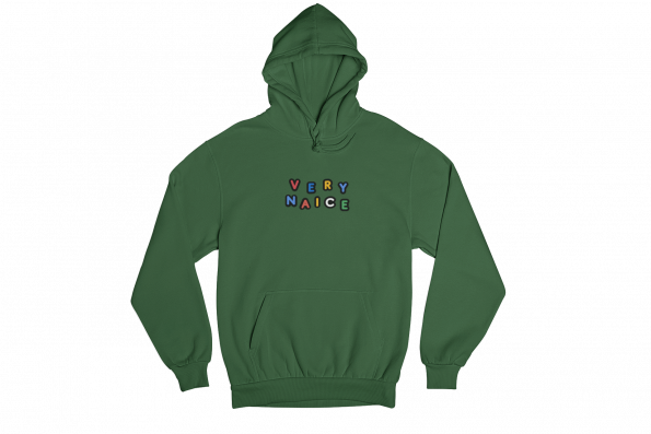 Very Naice Green Gender Neutral Hoodie