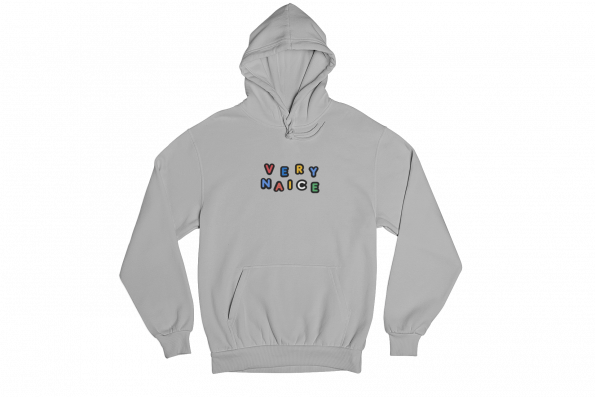 Very Naice Grey Gender Neutral Hoodie