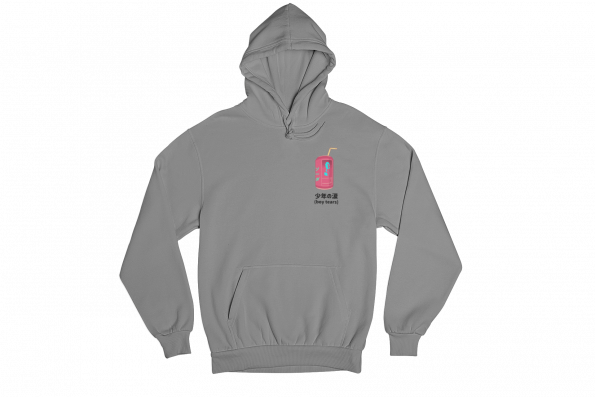 Boy Tears Can Grey Gender Neutral Hoodie