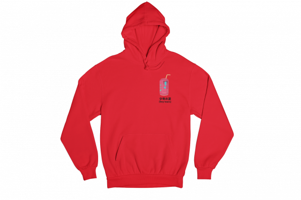 Boy Tears Can Red Gender Neutral Hoodie