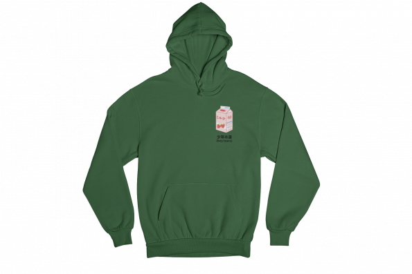 Boy Tears Tetra Pack Green Gender Neutral Hoodie
