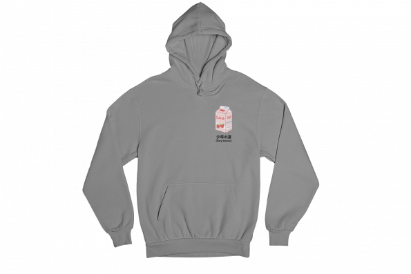 Boy Tears Tetra Pack Grey Gender Neutral Hoodie