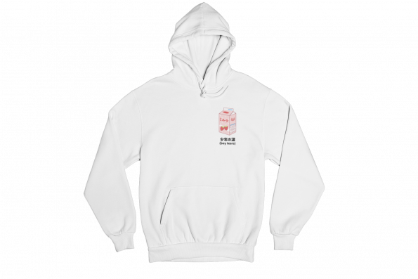 Boy Tears Tetra Pack White Gender Neutral Hoodie