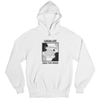 Legalise Weed White Gender Neutral Hoodie