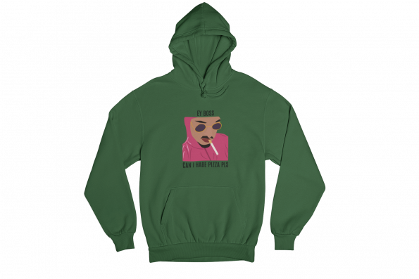 Pink Guy Green Gender Neutral Hoodie