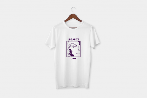 legalise coke white tee