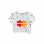 meme mommy crop top white