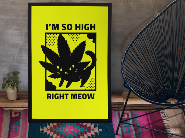 Meow right now poster