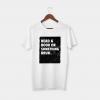 book white t-shirt