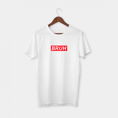 bruh sup white t-shirt