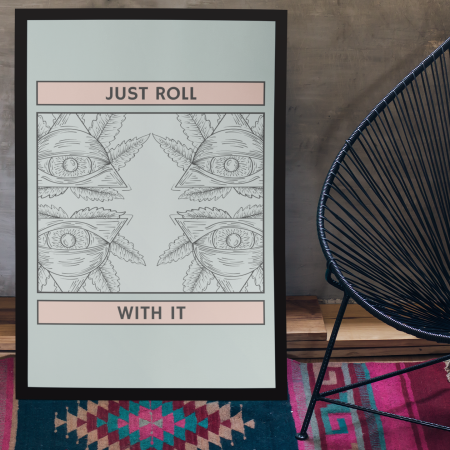 roll with poster