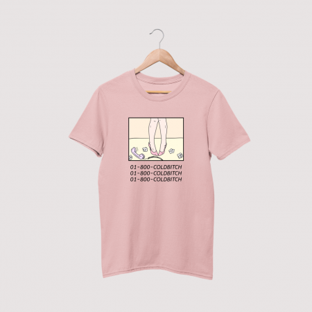cold bitch pink tee
