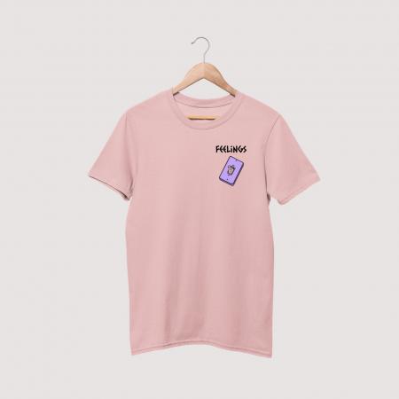 feelings pink tee