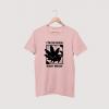 meow pink tee