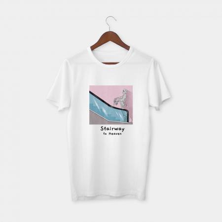 stairway white t-shirt
