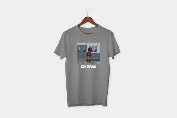 stay spooky grey t-shirt