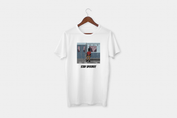 stay spooky white t-shirt