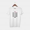 yeah right white t-shirt