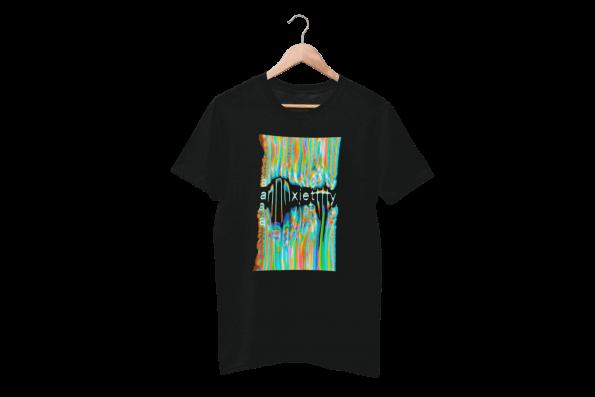 Anxiety Black Half Sleeve T-Shirt