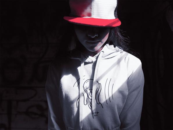 Art Over Gender Neutral Hoodie